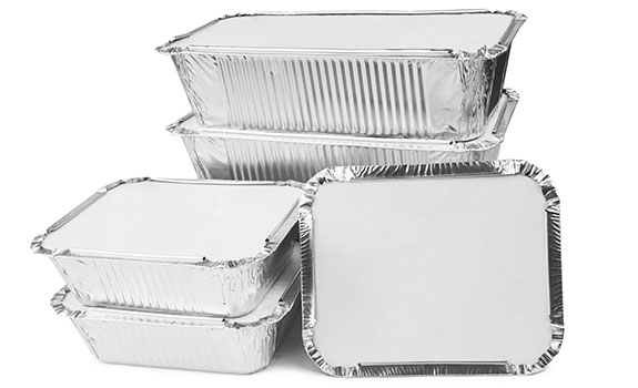 Lunch box aluminum foil