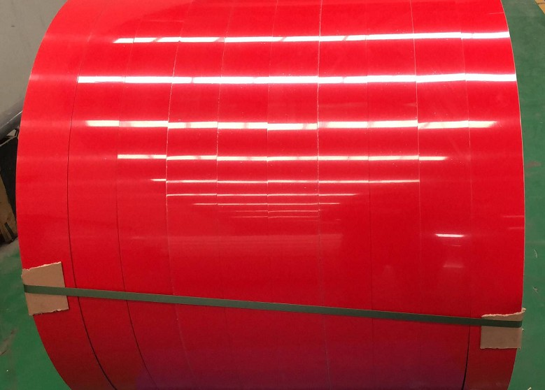PE red coating aluminum strip.jpg